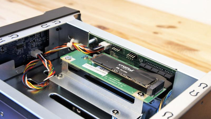 The AS6604T must be dismantled to install the NVMe drives
