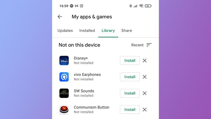 Remove Android app from Google Play library